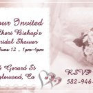 Beautiful Bride Personalized Bridal Shower Party Invitations 4x6 inch Postcards Pack of 10 kjswed
