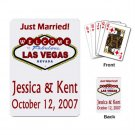 LAS VEGAS Deck of Custom Playing Cards Bride or Groom Party favors or Gifts kjsweddingshop