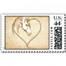 Wedding Matching POSTAGE STAMPS Western Theme sheet of 20, 44 cent stamps kjsweddingshop
