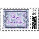 Wedding Matching POSTAGE STAMPS Purple Flowers Theme sheet of 20, 44 cent stamps kjsweddingshop