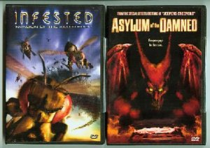 HORROR LOT INFESTED with ASYLUM of the DAMNED & 3rd DVD