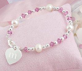 Little girl's Heart Charm Bracelet  B9251P