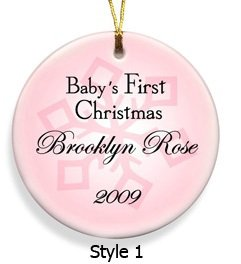 Baby's First Christmas Ornanment Style 1  GC666
