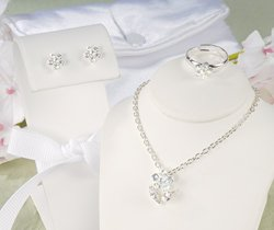 Iridescent Petals Flower Girl Jewelry Set  S8024S