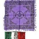 "18"" Rayon Triple Goddess Altar Cloth"