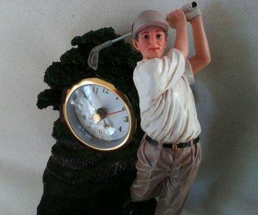 THE GOLFER FIGURINE WITH CLOCK