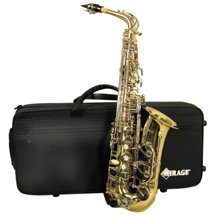 Deluxe Eb alto sax with case