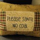 Please Santa, No Coal pillow