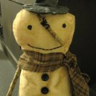 Prim Snowman brown scarf