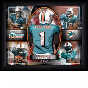 Custom Miami Dolphins  Action Print Framed and Personalized