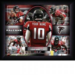 Custom Atlanta Falcons  Action Print Framed and Personalized