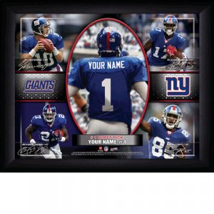 Custom New York Giants  Action Print Framed and Personalized