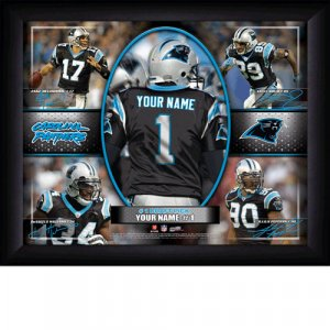 Custom Carolina Panthers Action Print Framed and Personalized