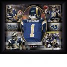 Custom St Louis Rams  Action Print Framed and Personalized