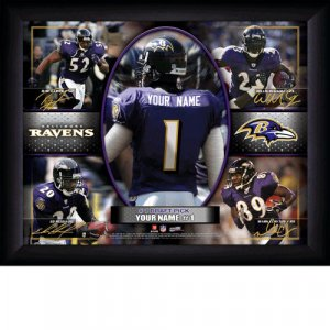 Custom Baltimore Ravens  Action Print Framed and Personalized