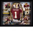 Custom Washington Redskins  Action Print Framed and Personalized