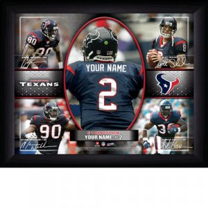 Custom Houston Texans Action Print Framed and Personalized