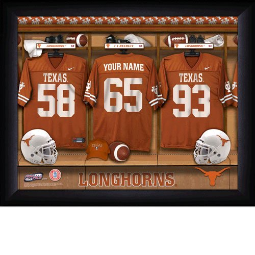 Framed Texas Longhorns Custom Jersey Print With Your Name