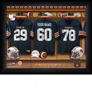 Framed Auburn Tigers Custom Jersey Print With Your Name