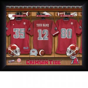 Framed Alabama Crimson Tide Custom Jersey Print With Your Name