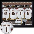 Houston Astros Framed Custom Jersey Print With Your Name