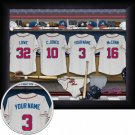 Atlanta Braves Framed Custom Jersey Print With Your Name