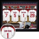 St Louis Cardinals Framed Custom Jersey Print With Your Name