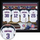 Chicago Cubs Framed Custom Jersey Print With Your Name