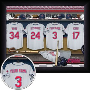 Cleveland Indians Framed Custom Jersey Print With Your Name