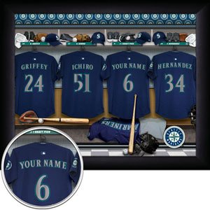 Seatlle Mariners Framed Custom Jersey Print With Your Name
