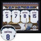 New York Mets Framed Custom Jersey Print With Your Name