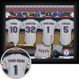 Texas Rangers Framed Custom Jersey Print With Your Name