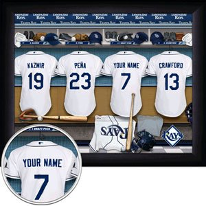 Tampa Bay Devil Rays Framed Custom Jersey Print With Your Name