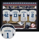 New York Yankees Framed Custom Jersey Print With Your Name