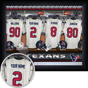 Houston Texans Framed Custom Jersey Print With Your Name