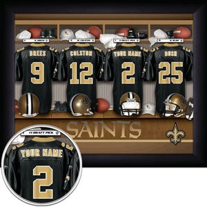 New Orleans Saints Framed Custom Jersey Print With Your Name