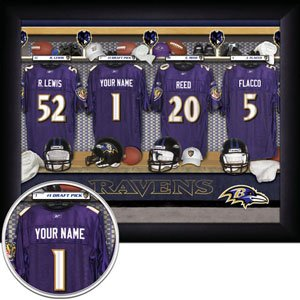 Baltimore Ravens Framed Custom Jersey Print With Your Name