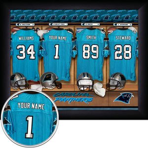 Carolina Panthers Framed Custom Jersey Print With Your Name
