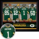 Green Bay Packers Framed Custom Jersey Print With Your Name