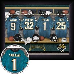 Jacksonville Jaguars Framed Custom Jersey Print With Your Name