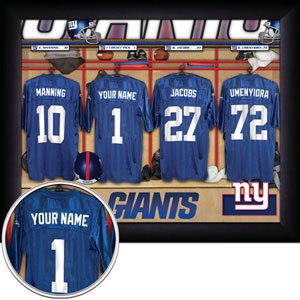 New York Giants Framed Custom Jersey Print With Your Name