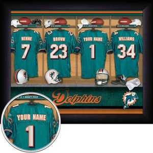 Miami Dolphins Framed Custom Jersey Print With Your Name