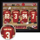 Kansas City Chiefs Framed Custom Jersey Print With Your Name