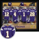 Minnesota Vikings Framed Custom Jersey Print With Your Name