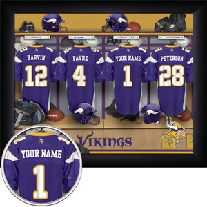 Minnesota Vikings Framed Custom Jersey Print With Your Name