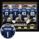 San Diego Chargers Framed Custom Jersey Print With Your Name