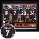 Denver Broncos Framed Custom Jersey Print With Your Name