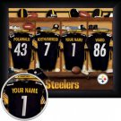 Pittsburgh Steelers Framed Custom Jersey Print With Your Name
