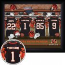Cincinnati Bengals Framed Custom Jersey Print With Your Name