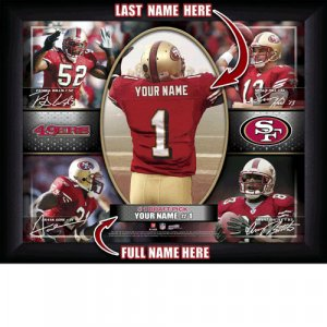 Custom San Francisco 49ers Action Print Framed and Personalized